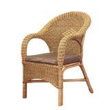 Fauteuil confortable en osier d 39 isolement photo libre de - Chaise en osier blanc ...