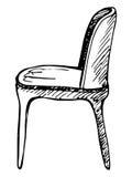 Chaise Croquis sur le fond blanc Illustration de vecteur Image libre de droits