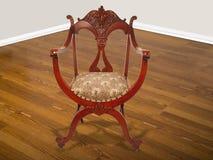 Chaise d'acajou américaine antique. Image libre de droits