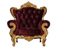 Chaise d'or de luxe de textile photo libre de droits