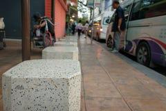 Chaise dans l'arrêt d'autobus Images libres de droits