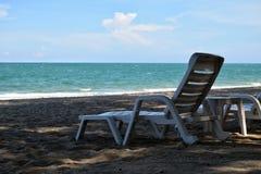 Chaise dans la plage Images libres de droits