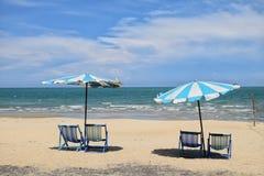 Chaise dans la plage Image stock