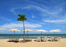 Chaise dans la plage Photo libre de droits