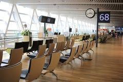 chaise dans le nouvel aéroport Chitose Hokkaido Japan de Chitose Images libres de droits