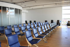 chaise dans le nouvel aéroport Chitose Hokkaido Japan de Chitose Photo stock
