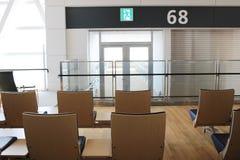chaise dans le nouvel aéroport Chitose Hokkaido Japan de Chitose Photo libre de droits