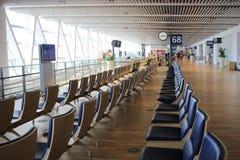 chaise dans le nouvel aéroport Chitose Hokkaido Japan de Chitose Image libre de droits