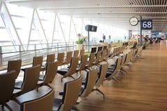 chaise dans le nouvel aéroport Chitose Hokkaido Japan de Chitose Image stock