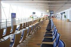 chaise dans le nouvel aéroport Chitose Hokkaido Japan de Chitose Photos stock