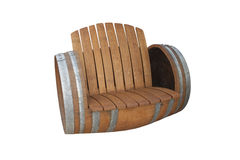 Chaise de baril de vin Photos stock