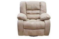 chaise de basculage confortable moderne de tissu avec le mécanisme de pliage images stock