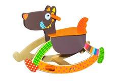 Chaise de basculage de chien de jouet Images libres de droits