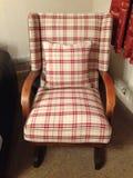 Chaise de basculage de tartan Photographie stock libre de droits