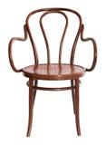 Chaise de bois courbé Photographie stock