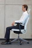 Chaise de bureau d'essai d'homme Image libre de droits