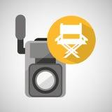 Chaise de directeur de caméra vidéo de film Photos stock