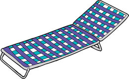 Chaise de jardin bleue sur le blanc illustration stock