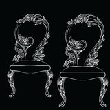 Chaise de luxe baroque de style d'isolement illustration stock