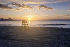 Chaise de maître nageur Photographie stock libre de droits