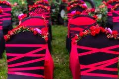 Chaise de mariage Photographie stock libre de droits