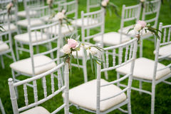 Chaise de mariage Photographie stock