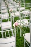 Chaise de mariage Images libres de droits
