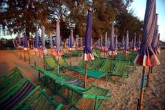 Chaise de plage Photographie stock