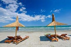 Chaise de plage Images stock