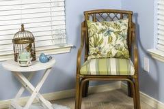 Chaise de plage d'intérieur Photographie stock