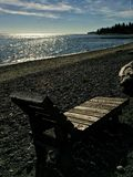 Chaise de plage d'océan image libre de droits