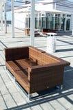 Chaise de rotin Photo libre de droits