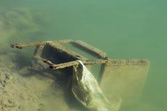 Chaise de sac dans le lac Photos libres de droits