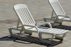 Chaise di plastica Fotografia Stock