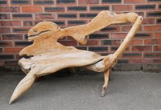 Chaise en bois. Photo stock
