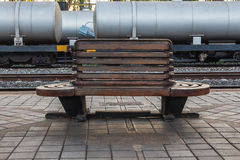 Chaise en bois Photo stock