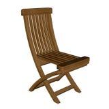 Chaise en bois - 3D rendent Image stock
