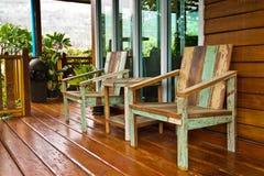Chaises en bois. Images libres de droits