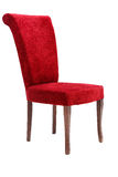 Chaise en bois rouge Photo stock