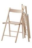 Chaise en bois se pliante Images libres de droits