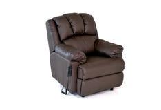 Chaise en cuir étendue Photo stock