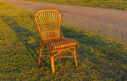 Chaise en osier Photo stock
