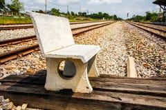 Chaise en pierre Photographie stock libre de droits