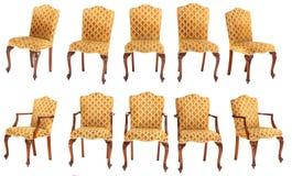 Chaise et fauteuil français de style Images stock