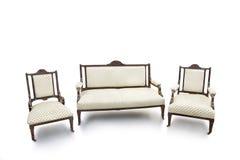 Chaise et sofa démodés photo libre de droits