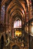 Chaise gothique intérieure de Leon Photos libres de droits