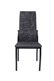 Chaise grise noire moderne d'isolement sur le fond blanc Front View Photographie stock libre de droits