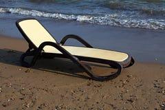 Chaise-longue on the beach. Stock Photos