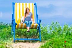 Chaise longue gigantesque Images stock