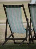 Chaise-longue in het park Royalty-vrije Stock Foto